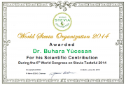 WSO awarded Dr. Buhara Yücesan for his Scientific Contribution