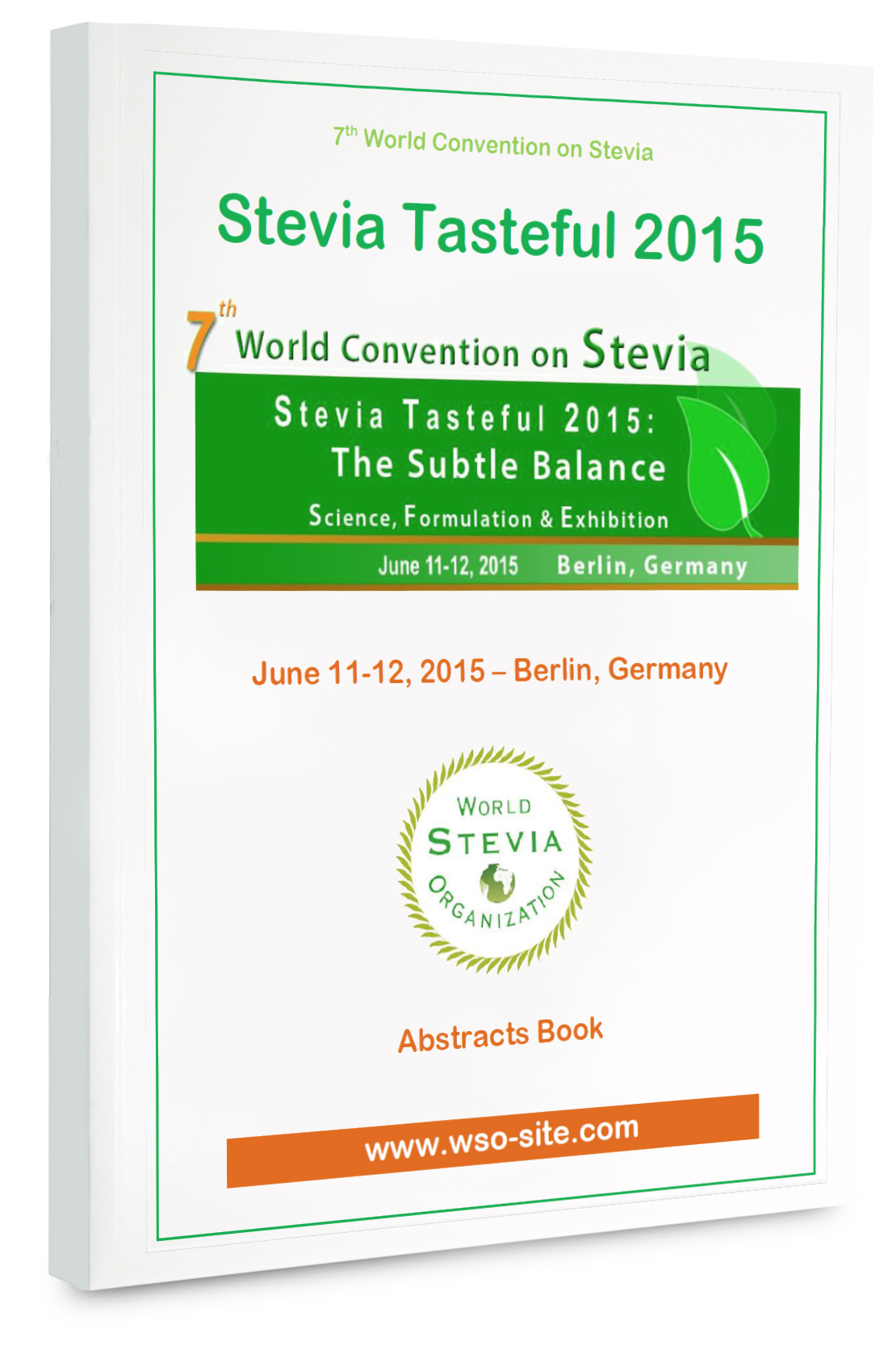 Stevia Tasteful 2015 : The abstracts book is available