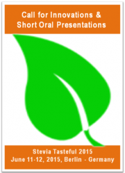 Call for Short Oral, Posters and Industrial Presentations for Stevia Tasteful World Congress 2015