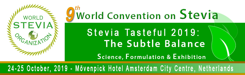 World Stevia Organization - Stevia Tasteful 2019